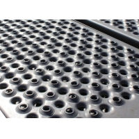China 2mm Perforated Round Hole Grip Strut Grating For Stair Platform EN Standard wholesale