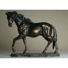 China Life Size Antique Bronze Horse Sculptures , Hotel Decoration Outdoor Horse Sculpture wholesale