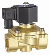 China 24VDC Brass Electric Water Solenoid Valve 2 Way Zero Differential Pressure wholesale