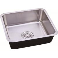 China Inox Undermount Stainless Steel Sink Bowl / Stainless Steel One Bowl Kitchen Sink on sale