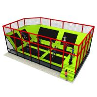 China Customized Trampoline Park Equipment , Child Size Trampoline Multi - Section wholesale