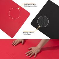 Buy cheap Wera Resistance Red PU Yoga Mat Unique Hygroscopicity Waterproof Function from wholesalers