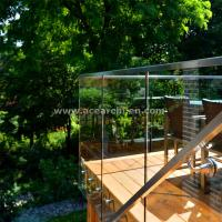 China Shenzhen  Ace Frameless Corridor Stainless Steel Standoff Glass Railing wholesale
