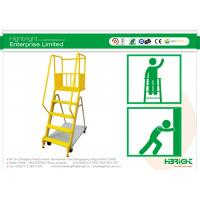 Quality Heavy Duty Warehouse Trolleys 4 Step Ladder Truck with Wheels for sale
