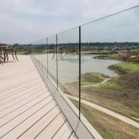 China Exterior Frameless Glass Deck Railing with Aluminum U Channel Profile / U Channel Glass Balustrade wholesale