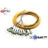 China 12 Colors Bundle Fiber Optic Pigtail ST Connectors Optional Work Wavelength wholesale
