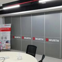 China Soundproof Hanging System Office Partition Walls / Acoustic Folding Doors wholesale