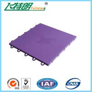 China Basketball / Volleyball / Tennis Court Interlocking Rubber Floor Tiles 304.8×304.8×12.2 mm on sale