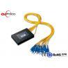 China 2.0MM PLC Fiber Optic Splitter 1*16 ABS Box Module SC PC Connectors for FTTH Network wholesale