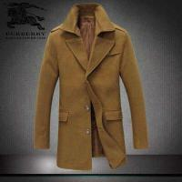 China High-grade woolen cloth designer classic contracted vertical cutting long winter mens coat wholesale