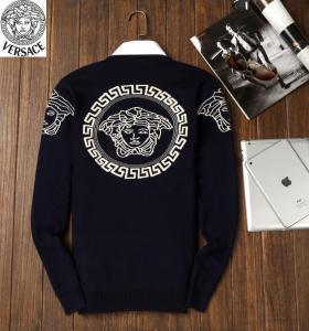 China wholesale fashion trend leisure male designer v-ersace round collar long sleeve sweater wholesale