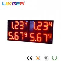 China Red Digits Color Professional Led Price Display , Electronic Gas Price Signs X 4 Rows wholesale