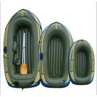 China 0.55mm PVC Inflatable Boat Army Green For Three Person wholesale