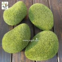 China UVG preserved artificial moss stones décor rock for garden grass ornaments to planning a wedding GRS040 wholesale