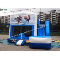 Quality 6 in 1 Wet And Dry Slide Inflatable Combo With Theme Panels For Children for sale