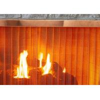 China Stainless Steel Heavy - Duty Metal Wire Mesh Curtains For Fireplace Screen Systems wholesale