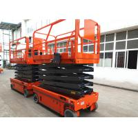 China Motion Alarm Self Propelled Electric Scissor Lift Self Propelled Single Man Lift wholesale
