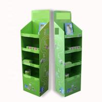 China Pop Floor Corrugated Cardboard Display Stands Embossing Or Glossy Lamination on sale