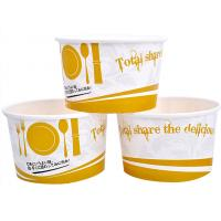 China 3oz 5oz Branded Ice Cream Cups / Bowls For Ice Cream Shop , Eco - Freindly Ink wholesale