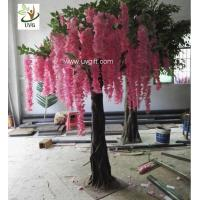 China UVG unique wedding ideas decorative small artificial wisteria blossom indoor silk trees for sale WIS019 wholesale