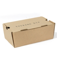 China Brown Rectangular Shoe Recycled Corrugated Packaging Box wholesale