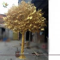 UVG GRE043 indoor and outside use thick golden banyan tree artificial trees for
