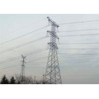 Double Circuit Electric Power Tower High Voltage Low  Alloy Structural Steel Material