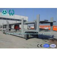 China 2 Layer Skeletal Structure Auto Transport Trailer With Hydraulic Cylinder wholesale