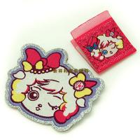 Buy cheap Lovely Hot Melt Adhesive Woven Clothing Labels Iron On Backing With Laser Cut from wholesalers
