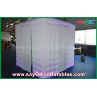 China Green Background Inflatable Photo Booth 2.5 x 2.5 x 2.5m For Wedding / Event wholesale
