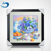 China 5D Natural Flowers 40 x 40cm Poster Custom Lenticular Printing For Home Hanging on sale