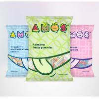 Buy cheap Snack Food Plastic 3 Side Seal Bag With Tear Notch Full Color Printing OEM from wholesalers