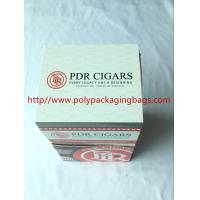 China Custom Cigar Humidor Bags / Cigar Wraps with Zipper and Window wholesale