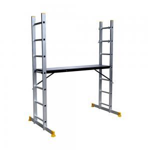 China Extendable 150kg 6.2ft Aluminium Scaffolding Ladder wholesale