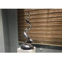 China Polished Contemporary Art Mirror Stainless Steel Sculpture For Indoor Decoration wholesale