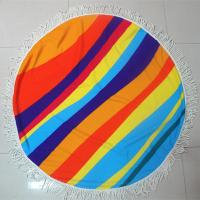 China Factory custom your own design summer round beach towel circle beach towel customize towel wholesale