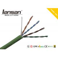 Buy cheap LSZH Jacket CAT5E UTP 24AWG Bare Copper Conductor Green Color from wholesalers
