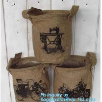 """China natural jute burlap foldable decorative storage basket,X-Large Well Standing 26"""" Toy Chest Baskets Storage Bins for Dog wholesale"""