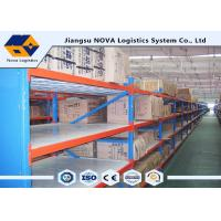 China Hot Rolled Steel Stable Longspan Shelving 1000 Kgs Per Layer Loading Capacity wholesale
