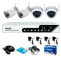 Quality 1.0MP 720P 4channel WIFI Wireless NVR Kit Camera System Support Remote View for sale