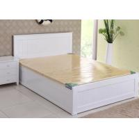 China Modern Super King Wooden Bed Frame , Contemporary Hotel White Twin Bed Frame wholesale