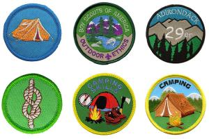China Custom Woven Boy Scout Uniform Patches Hook And Loop Backing wholesale
