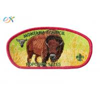 China 100% Embroidery Boy Scout Patches Polyester Material With Merrow Border wholesale