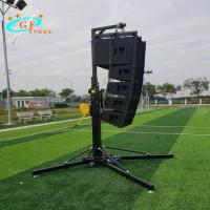 China Hang Audio Light Truss Stand Lift Light Tower Metal Stand Hand Crank wholesale