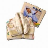 China Baby Blanket with Zipper, Measures 80 x 90cm, Available in Various Colors wholesale