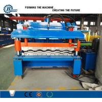 China Color Coated Automatic Steel Iron Roofing Tile Roll Forming Machine For Steel Structure wholesale