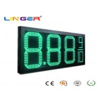 China Green Color Outdoor Led Signs Prices With 12 Inch Digits For Double Sides wholesale
