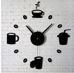 Buy cheap Living room modern artistic personality DIY acrylic clock digital mirror wall from wholesalers