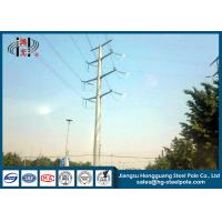 Quality 50FT 2 Sections 69KV Electrical Power Transmission Pole With Galvanization / Bitumen wholesale