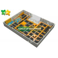China Indoor Trampoline Park Equipment , Kids Exercise Trampoline Easy Installation wholesale